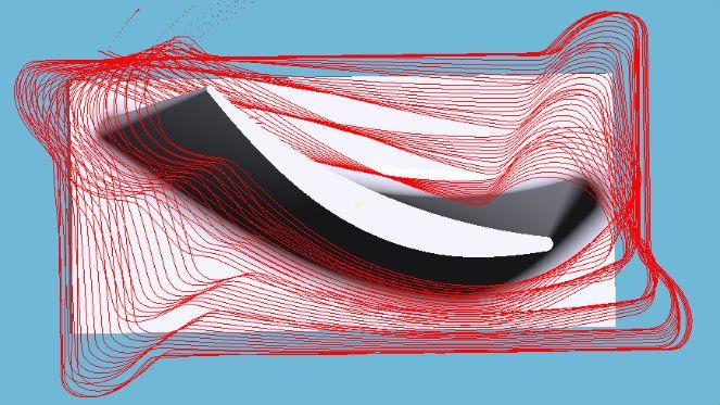 Hatékony turbina lapát megmunkálási algoritmusok