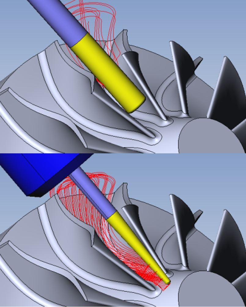 Az ESPRIT kimondottan turbinagyártók számára fejlesztett algoritmusokat is tartalmaz